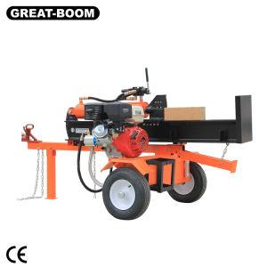 打抜き機のためのLs 24t 610mmCtmガソリンまたはディーゼル油圧縦か水平の木製のログのディバイダー