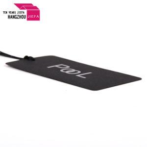 Logo de la marque d'aluminium argenté chaud Hang Tag/Tag de l'impression de papier