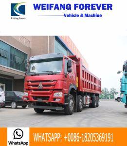 2017 modelleer Sinotruk HOWO 8X4 336HP, 371HP 12 Wiel 50t-80t Vrachtwagen van de Stortplaats van de Kipper van 8.2 Meter de Lichaam Gebruikte met het Werken van 10000 Kilometer