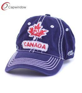 Nouveau design du panneau de tissu personnalisé 6 Papa Hat avec le Canada applique patch broderie