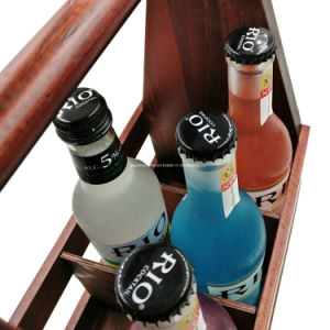 Bottle Openerの無作法なHandcrafted 6 Pack Compartment Beer Caddy Holder