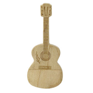 Гитара настроить логотип бамбук флэш-накопитель USB 8 ГБ