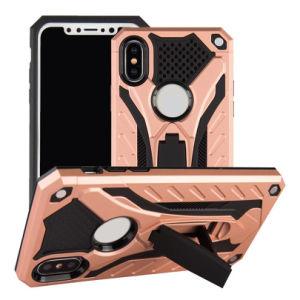 180 iPhone 7のための度によって回される革ベルトクリップホルスターの箱