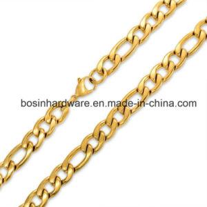 Collana Chain di Figaro di 3:1 dell'acciaio inossidabile dell'oro del IP