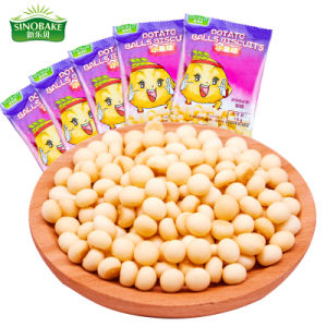 Forma de bola a granel Sinobake galletas, Mini galletas con vitaminas patata