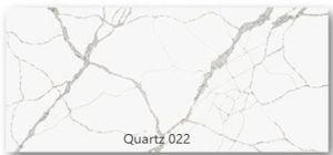 Quartz artificielle Calacatta Arabescato carrelage blanc et un comptoir