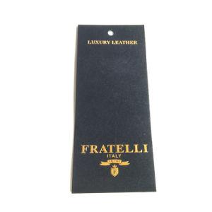 Promoción de la calidad de prendas de vestir de lujo Precio nueva ronda de la etiqueta colgando