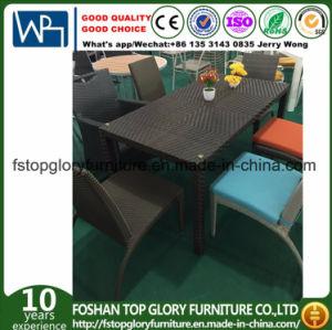 Hot Sale A Manger En Osier Table Chaise Rotin Ensemble Mobilier Exterieur