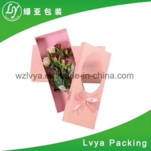Weihnachtsblumen-Geschenk-Verpackungs-Kasten-Papierbeutel mit Belüftung-Fenster