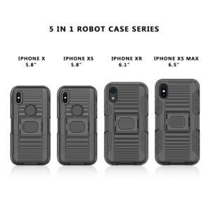 Kickstandの装甲箱および最大iPhone Xsのための頑丈な保護