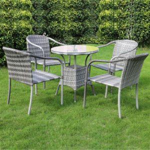 Mobiliário de exterior as medulas/Wick cadeira e mesa