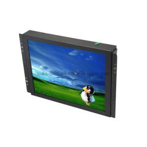 8 인치 4:3 TFT LCD 열린 구조 CCTV 접촉 모니터를 유숙하는 금속
