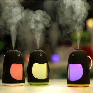 Ночное освещение Пингвин увлажнитель воздуха автомобиля USB увлажнитель воздуха для домашнего офиса мини-Mute эфирного масла диффузор туман Maker обогреве заднего стекла