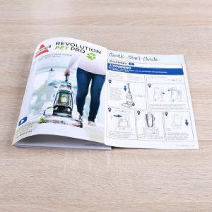 中とじのカスタムパンフレットの小冊子のDecriptionの印刷マニュアル