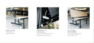 جديدة تصميم كرسي تثبيت خشبيّة ينشر يطوي مقادة لأنّ مع عجلات