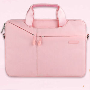 Moderner rosafarbener Nylonhandtaschen-Laptop-Beutel-Hülsen-Beutel (FRT3-355)