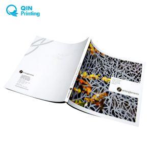 カスタムサイズカタログの本のパンフレットの印刷
