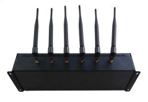 Desktop 6 Stoorzender van het Signaal van de Stoorzender van de Telefoon van de Cel van de Macht van Banden de Regelbare