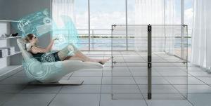 P3/7/P10 haute en verre transparent et Super Mince Afficheur à LED pour façade média