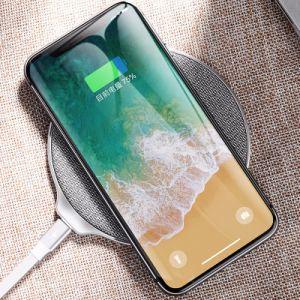 Los productos patentados Venta caliente modelos ultrafinos de metal estándar Qi Teléfono móvil de carga inalámbrica Wireless Cargador para Samsung Iphonex