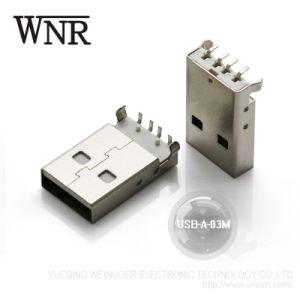 Micro connettore ad angolo retto del USB del PWB SMD di verticale di Wnre