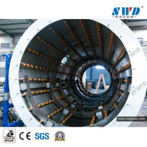 Agua de PVC por extrusión de tubo de plástico de la línea de producción de 50-630mm
