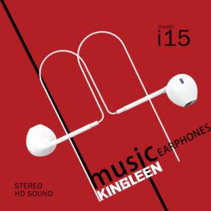 Kopfhörer Audios-Stecker-Einheit des Ohr in der StereoEarbuds Mikrofon-Lautstärkeregler-3.5mm