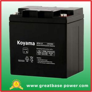 Armazenamento da Bateria selada de chumbo de Bateria Bateria 24ah 12V