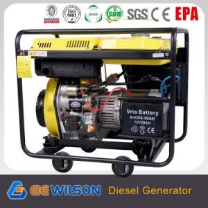 De 4-slag 5.5kw van Powertec Digitale Diesel Generator van de Vervaardiging van China