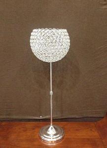 De Houder van de Kaars van het metaal met de Parels van het Kristal (ca-112)