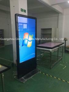 HD 접촉 스크린 LCD Signage 광고를 서 있는 지면