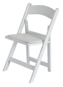 1000lps White Resin Folding 정원 Chairs