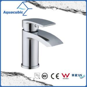 固体真鍮ボディ亜鉛によってクロム染料で染められるハンドルの洗面器のミキサーのコック(AF9902-6M)