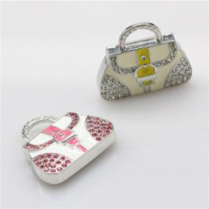 Azionamento della penna del diamante della CZ del disco istantaneo del USB della borsa delle donne dei monili