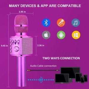 Многофункциональный беспроводной микрофон динамик для сольных партий
