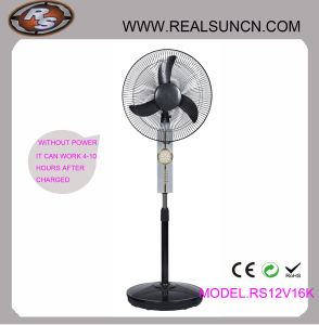 WS-Gleichstrom Rechargeable Fan 16inch mit LED Lamp (RS12V16K)