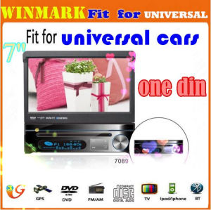 7-дюймовый HD цифровая DIN DVD/GPS/сенсорный экран//камеры/Bluetooth/DTV/Mps/радиоприемника DH7089