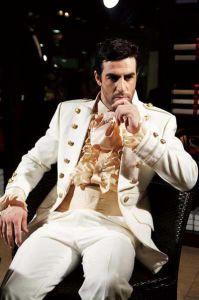 Fait clientèle de qualité supérieure Mode Blanc Or Ivoire costumes formels  Bureau Tuxedo pour 5 Pieces-Coat + Pants + Ceinture + Shirt + Tie MIC (18) 2b0d9591958