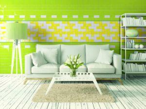 Geelachtige Groene 4X8inch/10X20cm Ledge Stone Vernisje Glazed Ceramic Wall Tegel