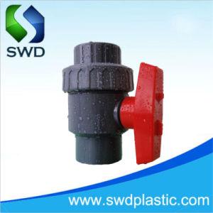 PVC青いハンドル単一連合プラスチック球弁の工場品質