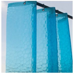 Efecto 3D ecológica PEVA cortina de ducha para Custom made