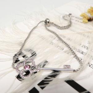 Armband van de Vorm van de Steen van de Diamant van het Ontwerp van de Juwelen van vrouwen de Eenvoudige Roze Zeer belangrijke
