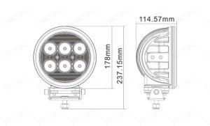 [4إكس4] [12ف] [24ف] [دك] 7 بوصة ذاتيّة [لد] عمل ضوء [60و] [كر] رقاقة [6بكس10و] لأنّ شاحنة