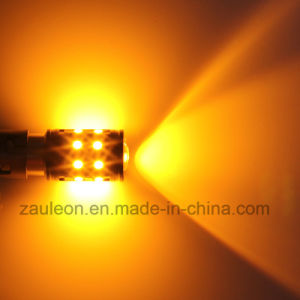 Weiße/bernsteinfarbige Doppeldes farben-der Talbahn1157 Bay15D S25 Birnen Drehung-Signal-LED