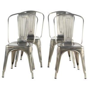 Cadeira Tolix Metal Industrial Vintage Cadeira de jantar interior e exterior