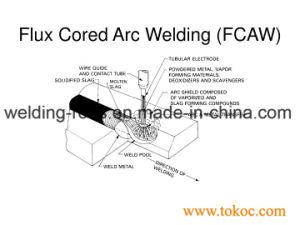 Toko AWS E71T-1c gaz CO2 sur le fil de soudure fourré de flux de bouclier