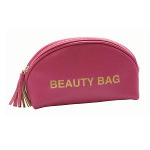 Grand sac de maquillage cosmétiques / Housse / embrayage organisateur de voyages pour les produits de toilette et produits de soin cuir synthétique drôle Sac cosmétique de maquillage