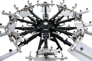 Micro giratorio manual de servicio pesado de registro de 8 de 8 colores de la pantalla de la estación de máquina de impresión