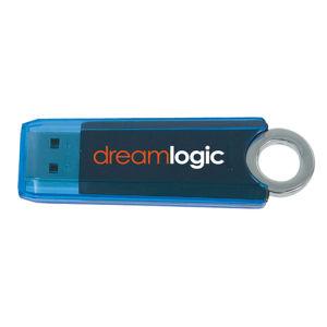 Прозрачной пластиковой флэш-накопитель USB с логотип