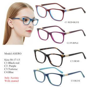 cf62e41b6 2019 acetato Retro Vintage Miopia Óculos Armações Lentes Transparentes  Mulheres Optical Demi Óculos óculos graduados